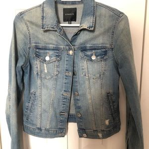 Jackets & Blazers - Cropped Denim Distressed Jacket